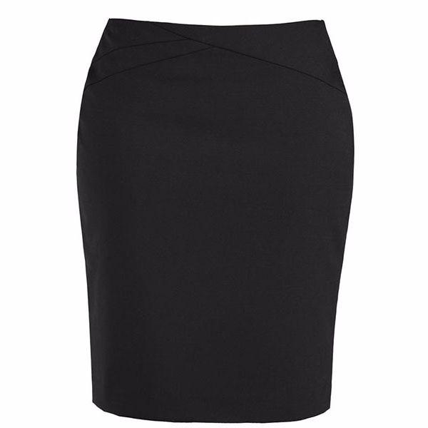 20114_black chevron band skirt