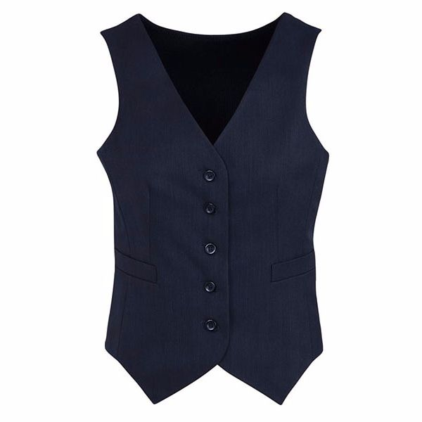 Ladies Peaked Vest - Knitted Back - 50111