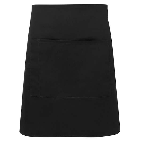 Half Apron With Pocket - 5A - Black