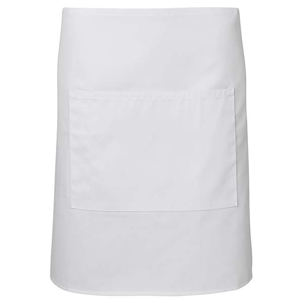 Half Apron With Pocket - 5A - White