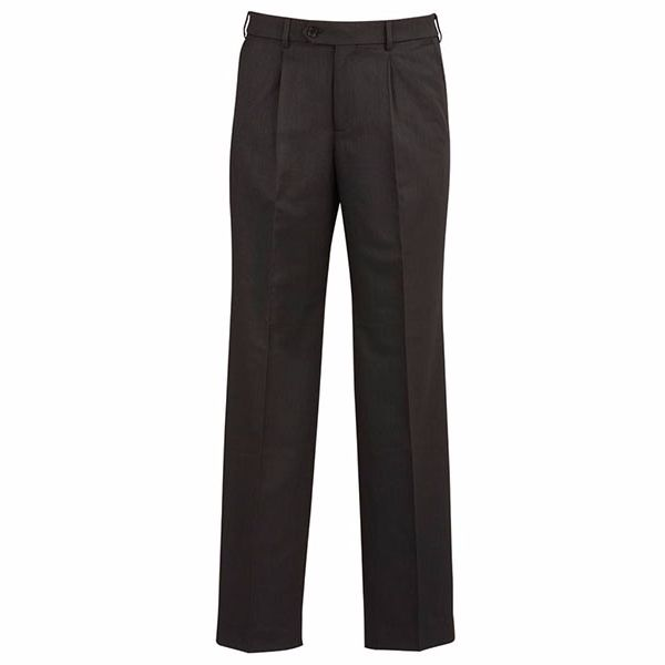 70111_charcoal one pleat pant