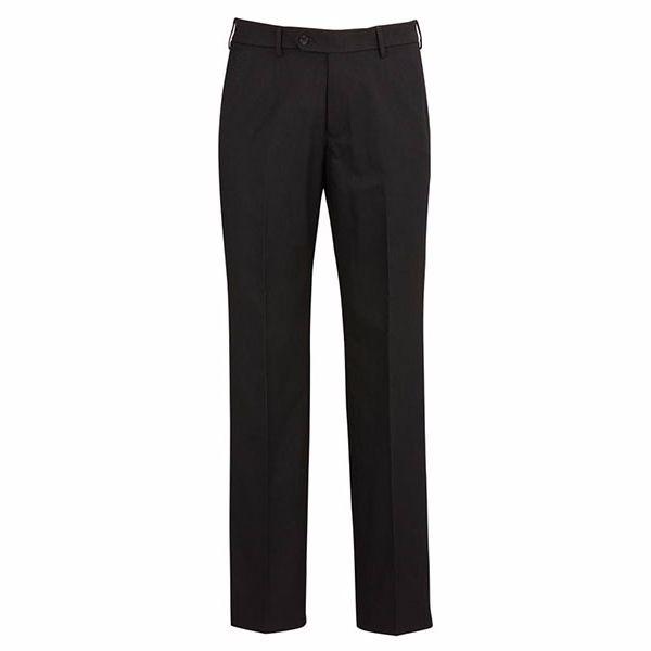 70112_black flat front pant
