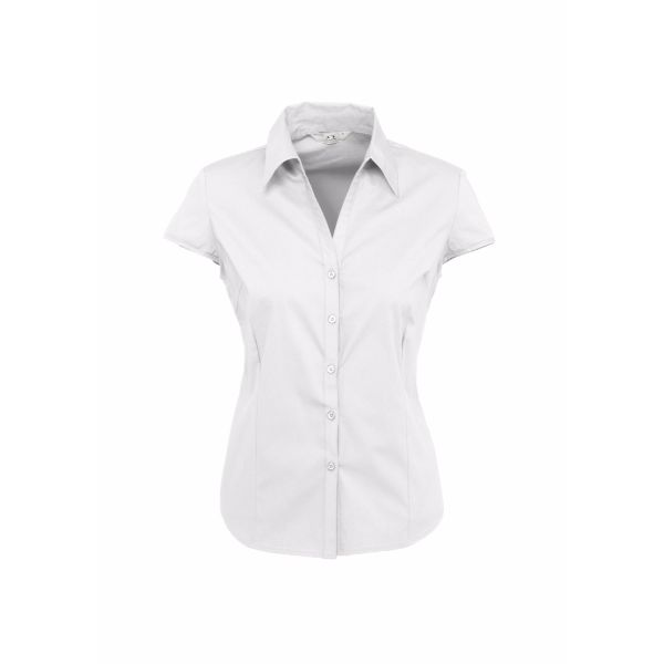 LADIES METRO CAP SLEEVE SHIRT - S119LN