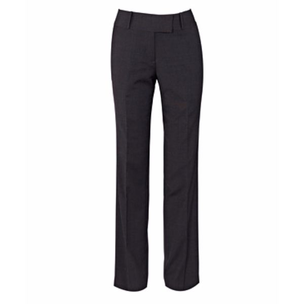 STRETCH WOOL BLEND PLAIN WEAVE TROUSER - VCTWWL08