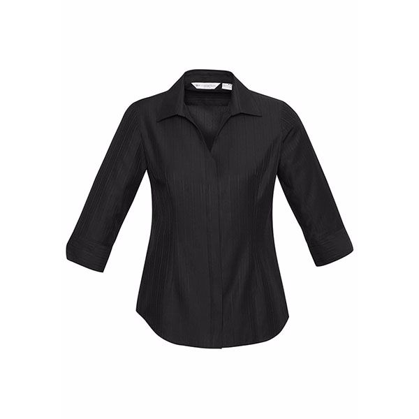 s312lt_preston-ladies-3-4-sleeve-shirt_black