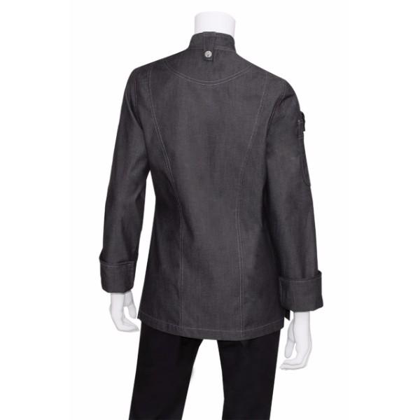 Womens Denim Zipper Chef Jacket Exwdz002 Hospitality