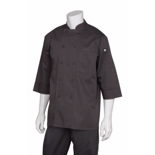 3/4 SLEEVE WHITE CHEF JACKET - JLCL