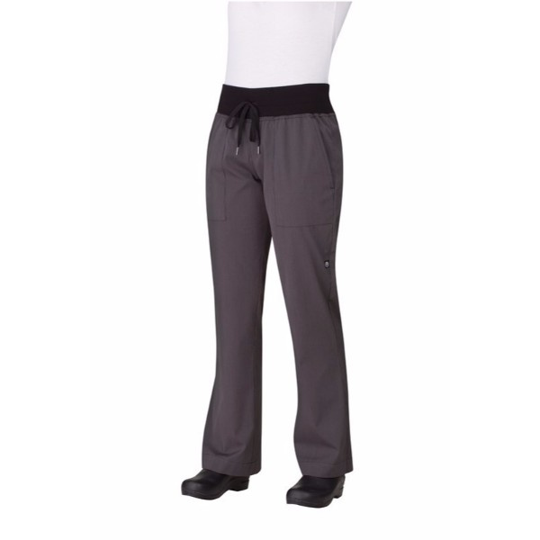 COMFI WOMEN'S BLACK CHEF PANTS-PW004