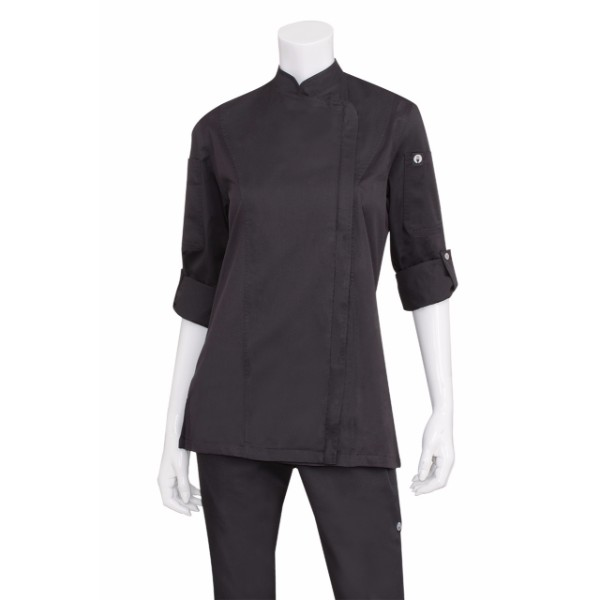 Hartford Womens Zipper Chef Jacket Bcwlz005