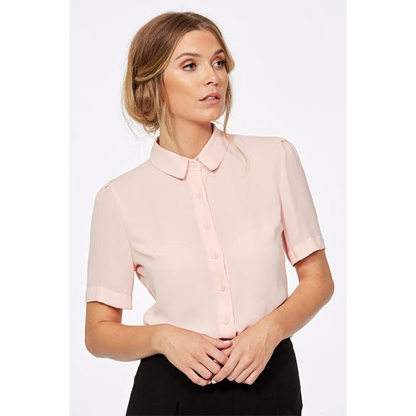 Chloe Semi Fitted Short Sleeve Blouse-6410S80