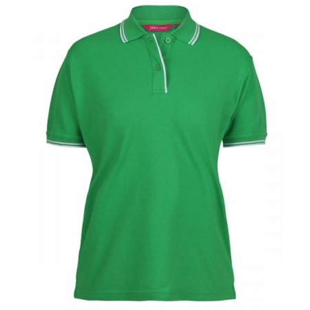 Ladies Contrast Polo 2LCP - Pea green/White