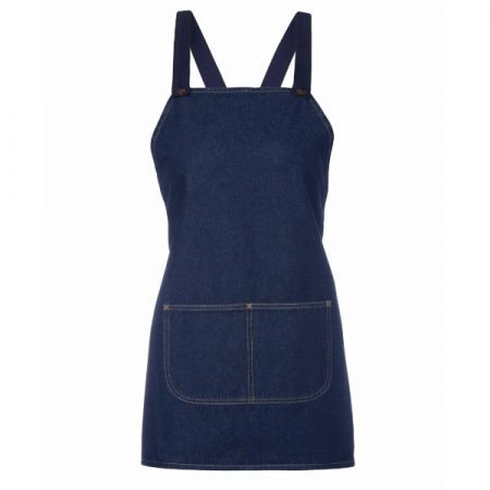 Cross Back 65x71 Bib Denim Apron (Without Strap)