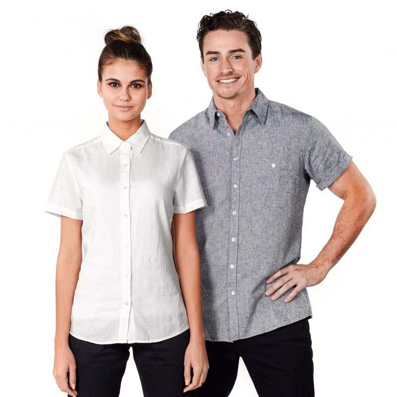W74 Ladies Floyd Linen Shirt Short Sleeve
