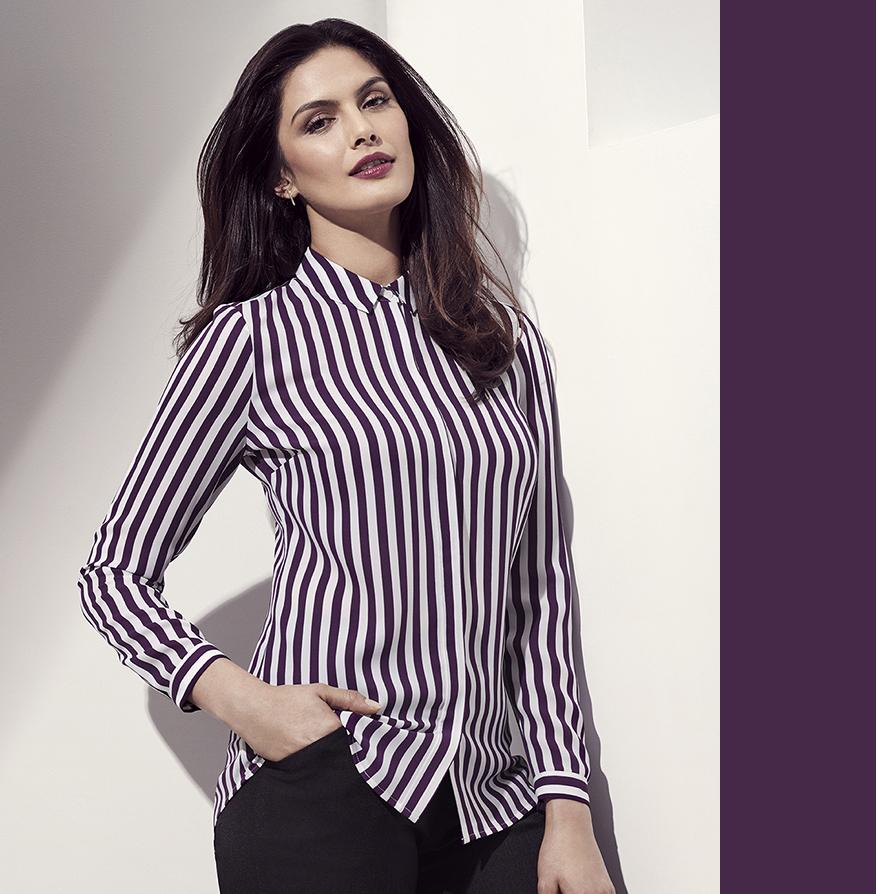 Womens verona long sleeve shirt 43610 hospitality for Uniform verona