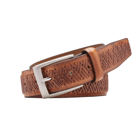 """CABANA"", 35MM, FULL GRAIN NATURAL LEATHER BELT - CABANA35 - 5552"