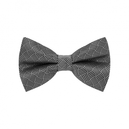 BOW TIE, BASKET, BLACK/WHITE